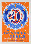 Robert Indiana The Santa Fe Opera Screenprint Signed And Numbered In Pencil