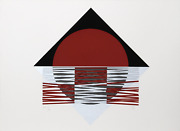 Jesus Rafael Soto Ovalo Rojo Screenprint On Arches Signed And Numbered In Pen