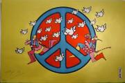 Peter Max Peace Poster Signed And Dated