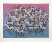 Guillaume Azoulay Exodus Screenprint Signed And Numbered In Pencil
