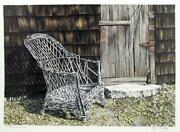 Helen Rundell Behind Davidand039s Barn Lithograph Signed And Numbered In Pencil