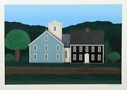 Ted Jeremenko, Farmhouse 3, Screenprint, Signed And Numbered In Pencil