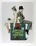 Norman Rockwell Gaiety Dance Team Vintage Poster