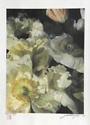 Jonathan Singer White Poppies Digital Photograph On Japon Paper Signed