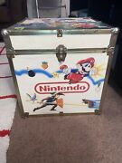 Rare Vintage Nintendo Super Mario Zelda Box Toy Chest Storage Video Games