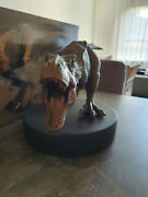 Extremely Rare Jurassic Park T Rex Attacking Bronze Figurine Le Of 300 Statue