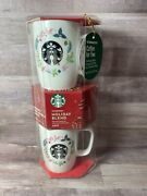Starbucks Holiday Blend Coffee And 2 Mugs Gift Set Holiday Christmas Worn Package