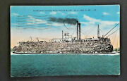 1941 Junction City Ks To Reading Pa Riverboat With Cotton Bales Postcard Cover