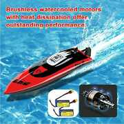 Brushless Rc Racing Boat 40km/h High Speed Remote Control Boat + 2 Batteries