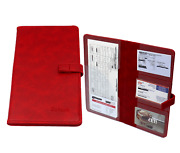 Car Insurance Holder For Registration Card Documents Auto Organizer Pu Leather R