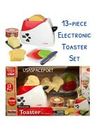 Kids 13pc Kitchen Appliance Electronic Toaster Real Working Action Playhouse Set