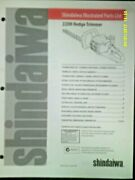 Shindaiwa 22dh Hedge Trimmer Illustrated 1999 Parts List 61680