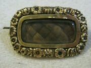 15 March 1829 Woven Hair Mourning Pin, Death Of Mary Ann 6 And Jane 4 Reed Uk