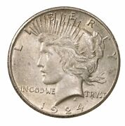 1924-s Peace 1 Uncertified Ungraded San Francisco Us Mint Silver Dollar Coin