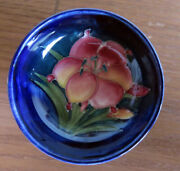 Moorcroft Freesia Cobalt Blue Minibowl C1953-1978 Potter To Late Queen Mary