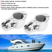 2pcs Bimini Jaw Slide Clamp Stainless Steel Boat Hardware Fitting For Yachts