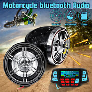 3and039and039 Bluetooth Motorcycle Handlebar Audio System Fm Radio Mp3 Player Speakers