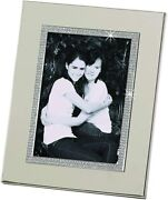 D Photo Frames 5x7 Metal Crystallized Silver Frame For Family Or Baby Pictures