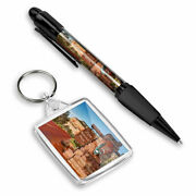 Pen And Keyring Rectangle - Zion National Park Sign Utah America Usa 24469