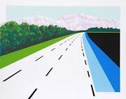 Joan Melnick Swiss Road Screenprint Signed And Numbered In Pencil