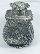 Antique German Germany Sterling Silver Very Rare Tea Caddy