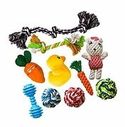 Amzpets 10 Dog Toys For Small Dogs And Puppies. Squeaky Toys   Rope Toys   Pl...