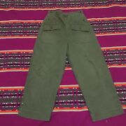 Vintage Us Army Cotton Herringbone Pants 40s Ww2 Womenand039s Great Condition