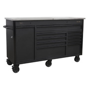 Sealey Mobile Tool Cabinet 1600mm With Power Tool Charging Drawer Garage Work...