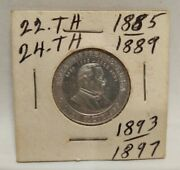 1885 Cracker Jack Mystery Club President Cleveland Token Coin Free Shipping