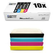 10x Eco Cartridge Replaces Lexmark C500h2cg C500h2kg C500h2mg C500h2yg C500h2