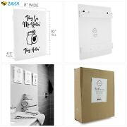 Wooden Funny Bathroom Signs Set Of 3 Cute Humorous Wall Art Each 10 X 8 Inche