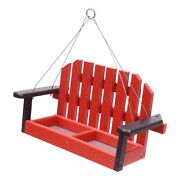 Amish-made Porch Swing Bird Feeder, Eco-friendly Poly-wood Hanging Decorative...