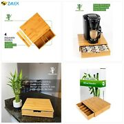 Bamboo Land Mind Reader K Cup Holder/storage, Bamboo Coffee Cup Drawer Storage/o