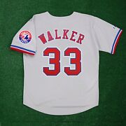 Larry Walker Montreal Expos Road W/ Team Patch Grey Jersey Menand039s M-2xl
