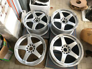 Jdm 18 Rays Nismo Lmgt4 Lm Gt4 Staggered Wheels For 350z Z33 180sx 240sx S13