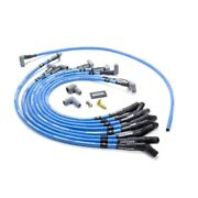 Moroso 72430 Spark Plug Wires Blue Max Spiral Core 8mm Blue 45 Degree Boots New