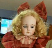 Antique 19-inch Am Darling Doll W/ Mohair Wig In Adorable Outfit-6