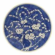 Large Mid 19th Century Blue And White Charger