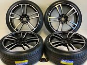 Rims Wheels Tires Fit Porsche Cayenne Macan Gts Turbo Style Blk 5x130 22 Inch