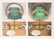 Leigh Behnke Light Study With Mirror Screenprint Lithograph And Pochoir Sign