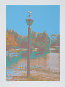 Max Epstein Seagull On A Lantern Screenprint Signed And Numbered In Pencil
