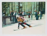 Jim Jonson Skier Ii Lithograph Signed And Numbered In Pencil