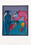 Mihail Chemiakin Whispers From Carnival Of St. Petersburg Suite Lithograph Si