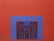Robyn Denny The Paramount Suite Red Screenprint Signed And Numbered In Penc