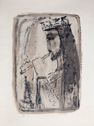 Nissan Engel King David Lithograph Signed And Numbered In Pencil