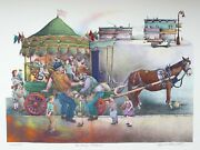 Seymour Rosenthal The Merry Go Round Lithograph Signed And Numbered In Pencil