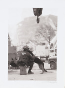 Unknown Artist Nypd And Dog Screenprint Signed Lower