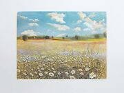 Marco Zambrelli Flower Field Soft Wax Aquatint Signed Numbered Dated And T
