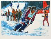 Jim Jonson Us World Cup Lithograph Signed And Numbered In Pencil