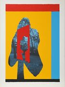 Menashe Kadishman Tree In Tree Primary Screenprint Signed And Numbered In P